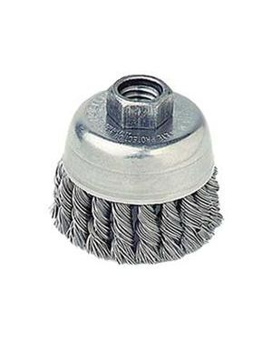"Weiler 2-3/4"" Single Row Knot Wire Cup Brush, ."