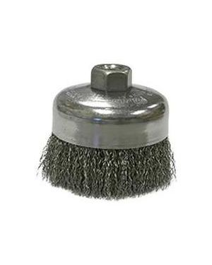 "Weiler 4"" Crimped Wire Cup Brush, .0118"" Steel"